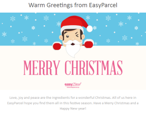 Christmas Greeting from EasyParcel