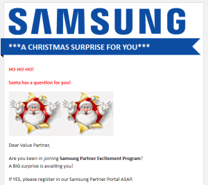 Christmas Greeting from SAMSUNG