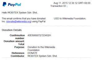 MOBITEK Supports Wikimedia Foundation