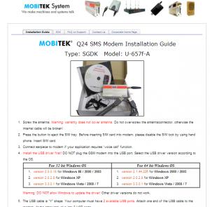 SMS Gateway Development Kit CD for MOBITEK Q24 SMS MODEM