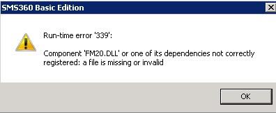 FM20.dll error