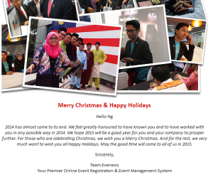 Christmas Greeting from Evenesis