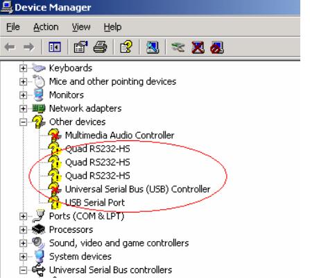 Quad Rs232 Hs Drivers For Windows