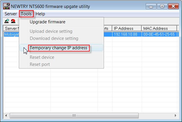 Change the IP Address of MobiGATE-03