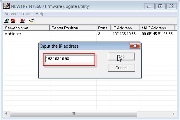 Change the IP Address of MobiGATE-04